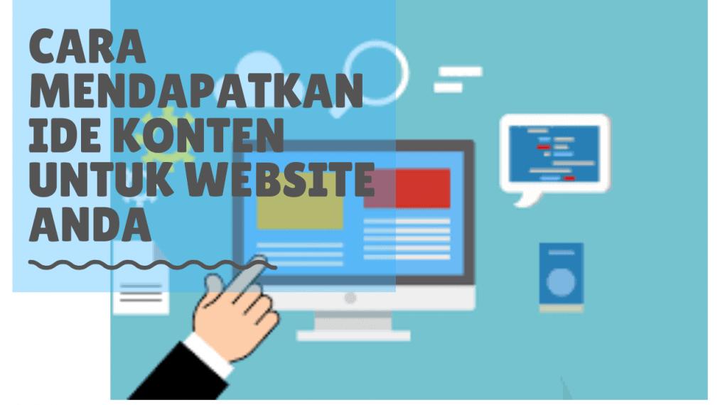 cara mendapatkan ide konten untuk website